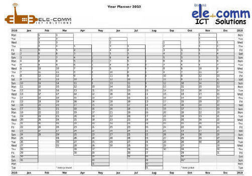 yearly calendar 2012 printable. free 2012 year planner